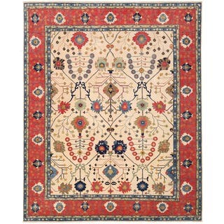 Herat Oriental Afghan Hand-knotted Vegetable Dye Oushak Wool Rug (11'11 x 14'9)|https://ak1.ostkcdn.com/images/products/14670729/P21206324.jpg?impolicy=medium