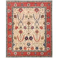 Herat Oriental Afghan Hand-knotted Vegetable Dye Oushak Wool Rug (11'11 x 14'9)