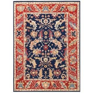 Herat Oriental Afghan Hand-knotted Vegetable Dye Oushak Wool Rug (10' x 13'6)