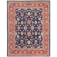 Herat Oriental Afghan Hand-knotted Vegetable Dye Oushak Wool Rug - 8'10 x 11'7
