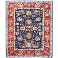 Handmade Herat Oriental Afghan Vegetable Dye Oushak Wool Rug (Afghanistan) - 8'2 x 9'10