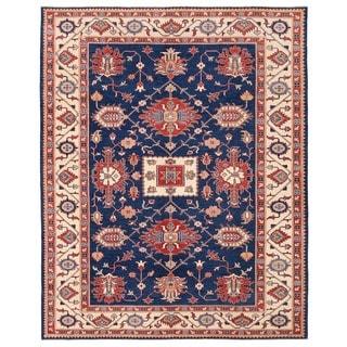 Herat Oriental Afghan Hand-knotted Vegetable Dye Kazak Wool Rug (9'3 x 11'7)