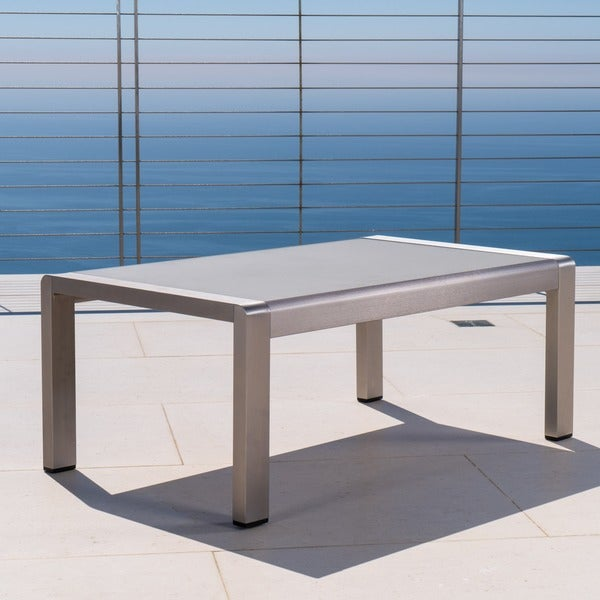 Aluminum Patio Coffee Table: Shop Cape Coral Outdoor Aluminum Coffee Table By