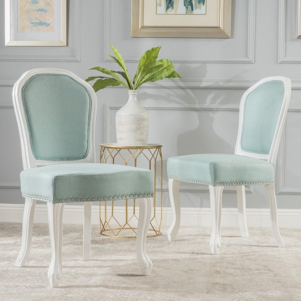Frey Studded Fabric Dining Chair Set Of 2 By Christopher Knight Home