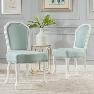 Godfrey Studded Fabric Dining Chair (Set of 2) by Christopher Knight Home