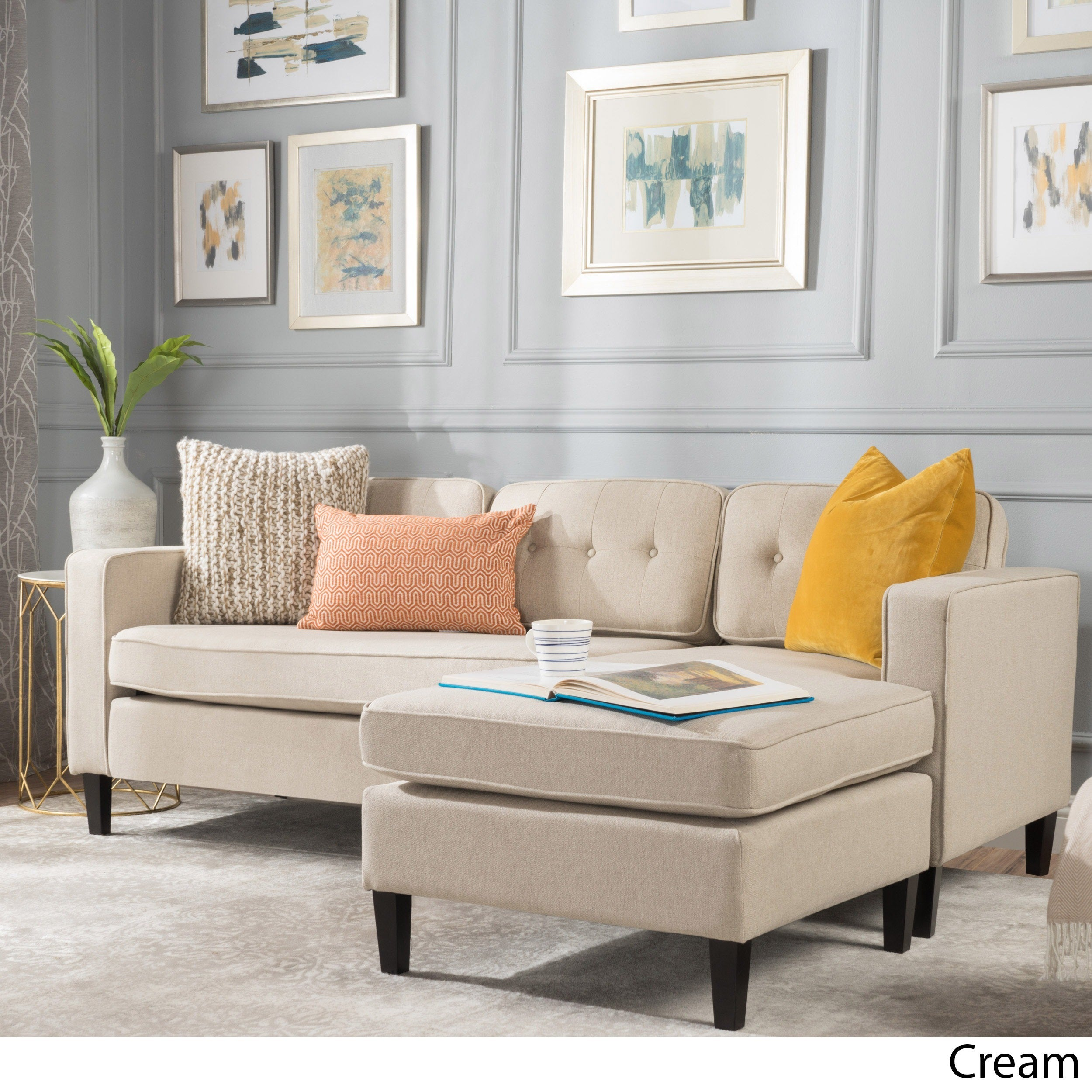Cream Sofas & Couches For Less | Overstock