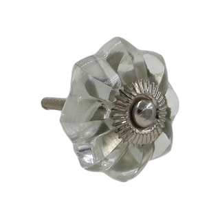 Clear Glass Faceted Octagonal Knob Pulls (Pack of 6)
