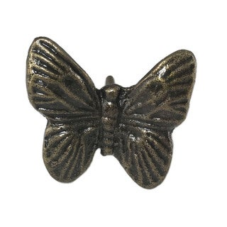 Butterfly Solid Metal Knob Pull for Drawers or Doors (Pack of 6)