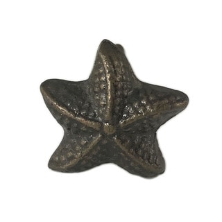 Starfish Solid Metal Drawer Or Door Knob Pull (Pack Of 6)