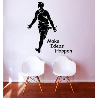 Quote Make Ideas Happen Sport Vinyl Sticker Home Interior Mural Art Kids Nursery Room Decor Sticker