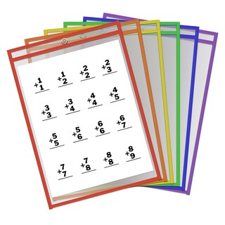 Thornton's Office Supplies 9x12 Reusable Dry Erase Pockets (Case of 30)