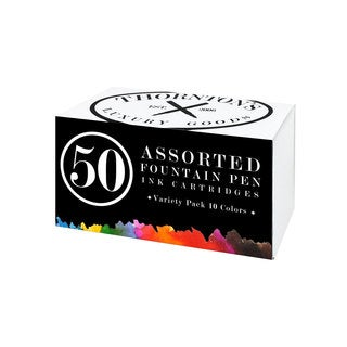 Thornton's Luxury Goods Short Standard International Fountain Pen Ink Cartridges (Case of 50)
