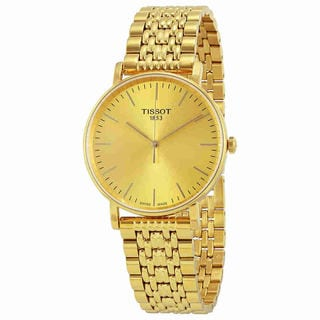 Tissot Men's T1094103302100 'T-Classic Everytime' Gold-Tone Stainless Steel Watch