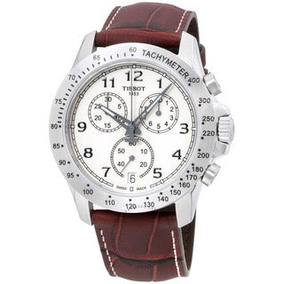 Tissot Men's T1064171626200 'V8' Chronograph Brown Leather Watch