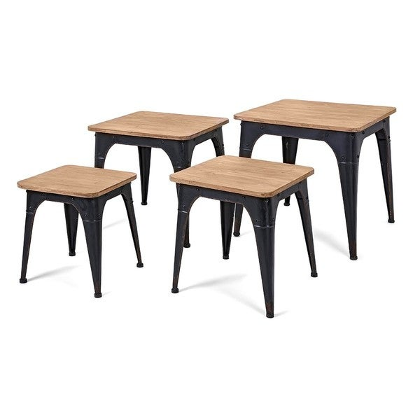 Shop harlow wood and metal nesting display tables set of