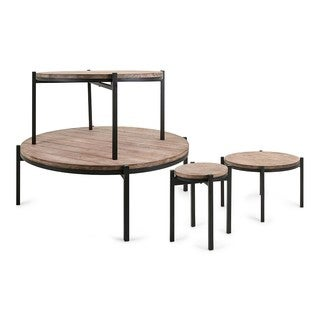 Eve Round Stacking Display Tables - Set of 4