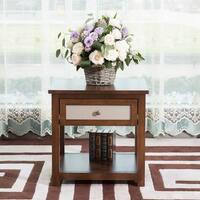 Briarwood Home Decor Dark Walnut 20-inch End Table