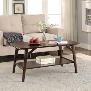 Briarwood Home Decor Espresso Finish Wood Coffee Table