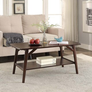 Briarwood Home Decor Espresso Finish Wood Coffee Table