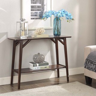 Espresso Finish Wood Console Table