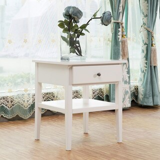 20-inch Wooden Single Drawer End Table