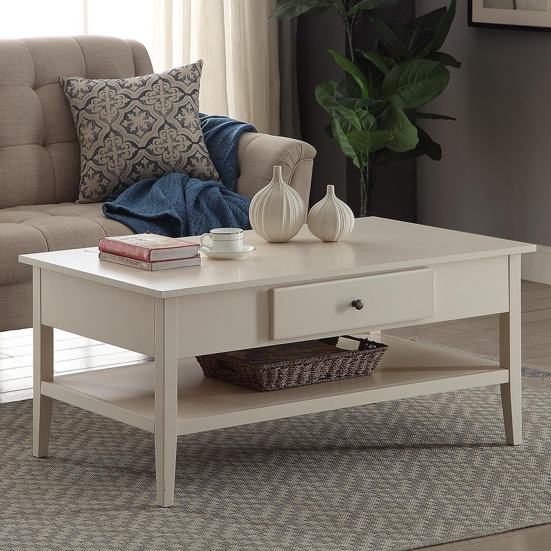 Briarwood Home Decor Wood 42-inch Coffee Table (White - W...