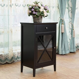 Briarwood Home Decor Black Finish Wood Cabinet