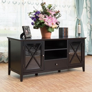 Briarwood Home Decor Black Finish Wood 52-inch TV Stand