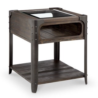 Rydale Transitional Distressed Chocolate Rectangular End Table