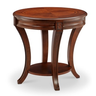 Winslet Traditional Cherry Oval End Table