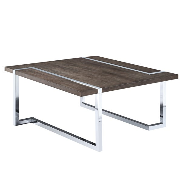 f193e4fc43d2f Shop Kieran Contemporary Charcoal and Chrome Square Coffee Table - On Sale  - Free Shipping Today - Overstock - 14676496