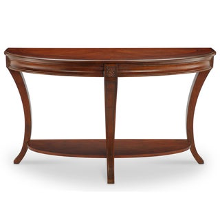 Winslet Traditional Cherry Demilune Console Table