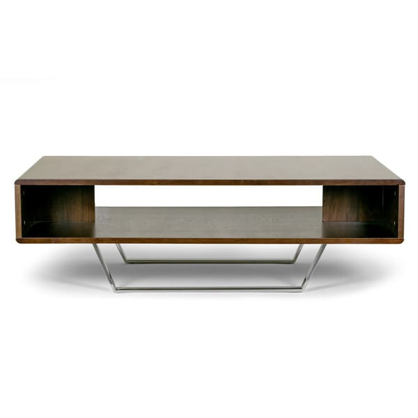 Shop Akira Modern Walnut Finish Coffee Table With Round