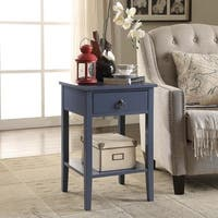 Briarwood Home Decor Blue Wood End Table
