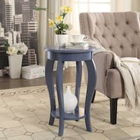 Briarwood Home Decor Painted Wood Round End Table
