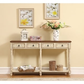 Somette Heritage Cream Two-drawer Console Table