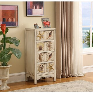 Somette 4-Drawer Distressed Sand Coastal Chest