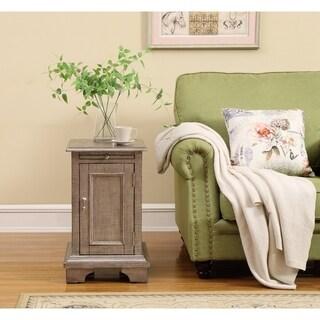 Somette Haven Textured Metallic One-door Chair-side Cabinet
