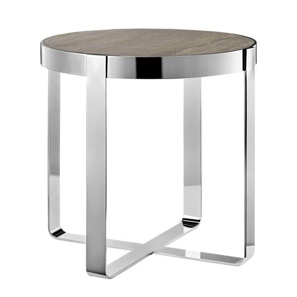 Madison Park Emily Oak/ Chrome End Table