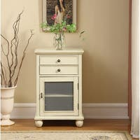 Somette 2-drawer, 1-door Ivory Cabinet