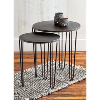 TAG Burnished Nesting Table Set Of 2