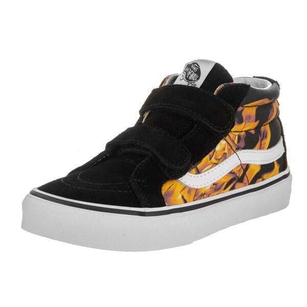 Shop Vans Kids Sk8-Mid Reissue V (Digi Flame) Skate Shoe - Free ... 5618fd706