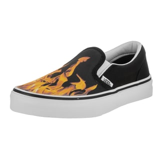 Vans Kids Classic Slip-On (Digi Flame) Skate Shoe