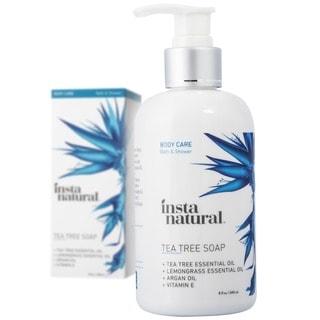 InstaNatural 8-ounce Anti-fungal Tea Tree Soap