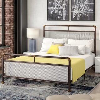 Corvus Lorraine Bronze Metal Bed with Mesh Design
