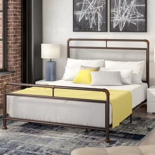 Corvus Lorraine Bronze Metal Bed with Mesh Design