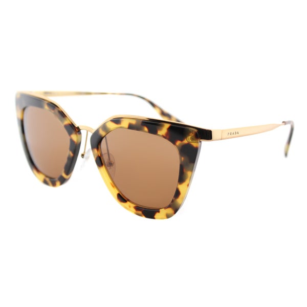 46501bc90f27 Prada PR 53SS 7S06N0 Cinema Medium Havana Plastic Cat-Eye Sunglasses Brown  Lens