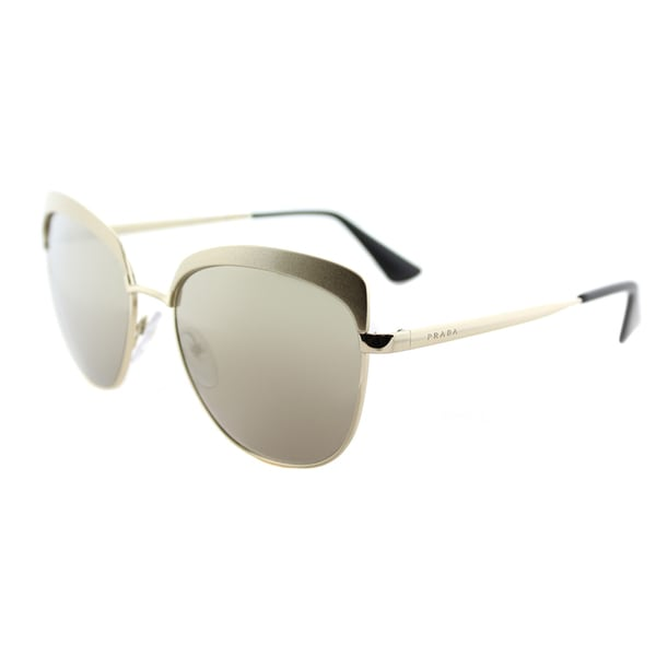 197387708 Shop Prada PR 51TS VAQ1C0 Metalized Pale Gold Metal Square Sunglasses Gold Mirror  Lens - Free Shipping Today - Overstock - 14677307