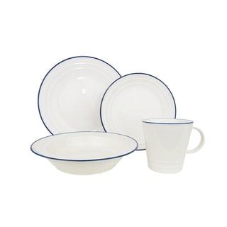 Red Vanilla Baker's Blue 16-Piece Dinnerware Set (Service for 4)