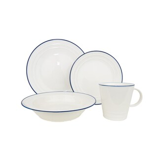 Baker's Blue 16-Piece Dinnerware Set (Service for 4)